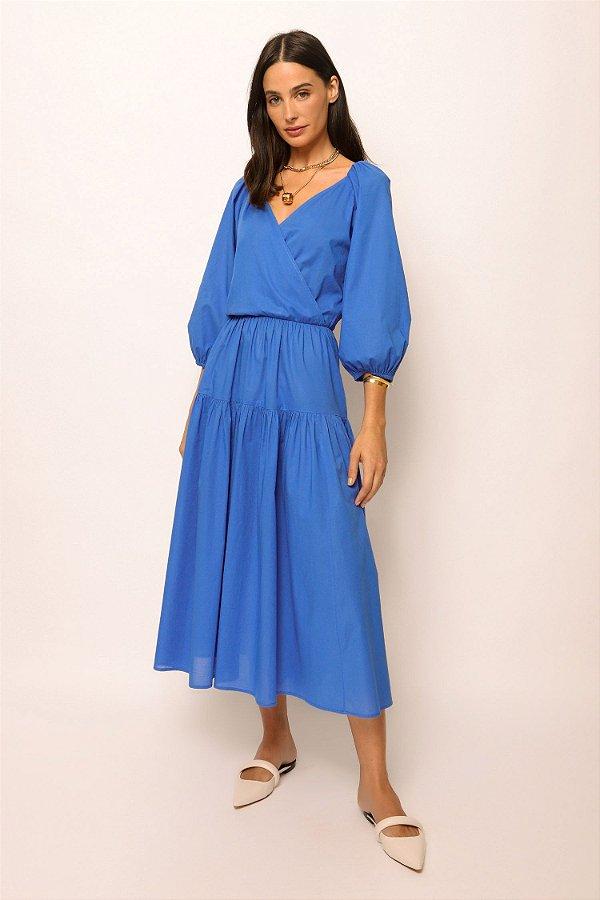 vestido cachecouer de voil azul
