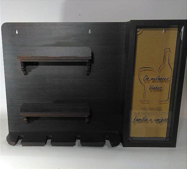 Porta Vinho Taças e Rolhas