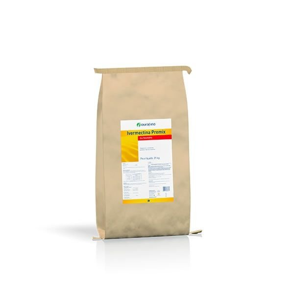 Ivermectina Premix 0,6% Ourofino - SC 25Kg