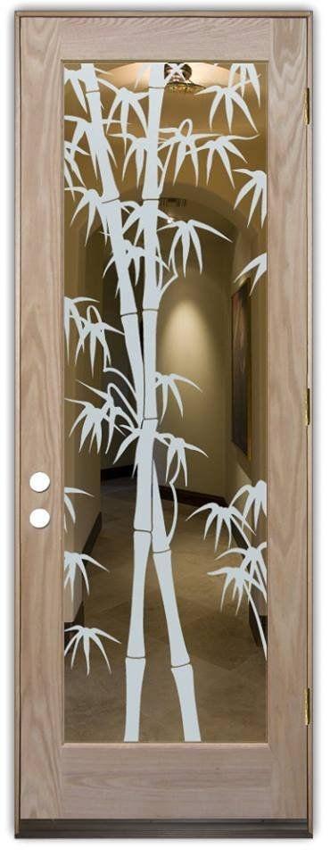 Adesivo decorativo Jateado Para Vidros Bambu 356