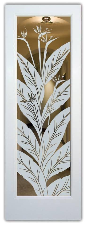 Adesivo decorativo Jateado Para Vidros Ave do Paraíso 334 190x060 cm