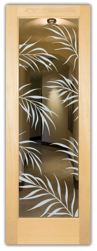 Adesivo decorativo Jateado Para Vidros Folhas 645 190x060 cm