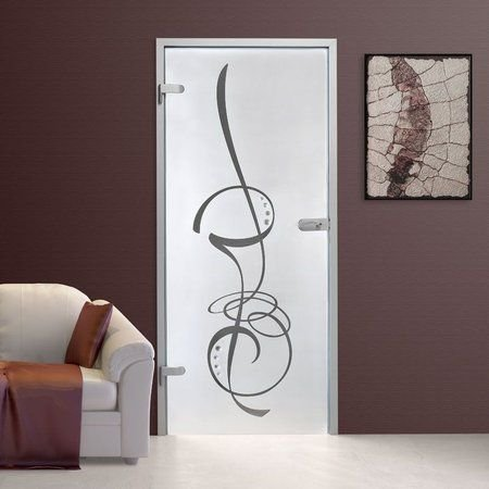 Adesivo jateado para portas - 210x98 cm