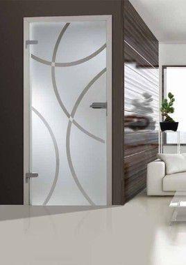 Adesivo decorativo jateado para portas - 210x060
