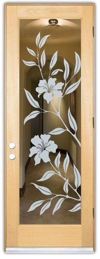 Adesivo decorativo Jateado - Floral 170x060 cm