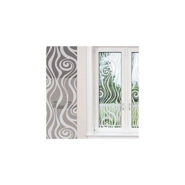Adesivo jateado decorativo ondas 2 - Alt. 210 x Larg. 60 cm