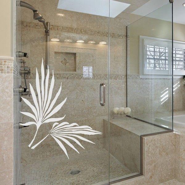 Adesivo Decorativo Jateado - Folha de palmeira - 040x040 cm