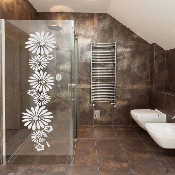 Adesivo decorativo Jateado - flor 5 - 100x030 cm