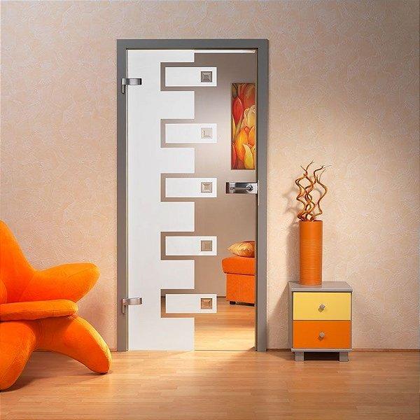 Adesivo decorativo jateado para portas - 040x2,15