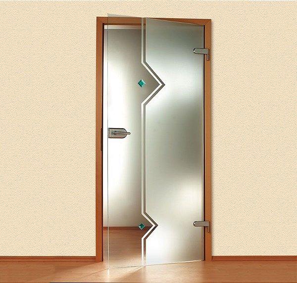Adesivo decorativo jateado para portas - 210x100 cm para vidros de 50 a 100 cm de largura