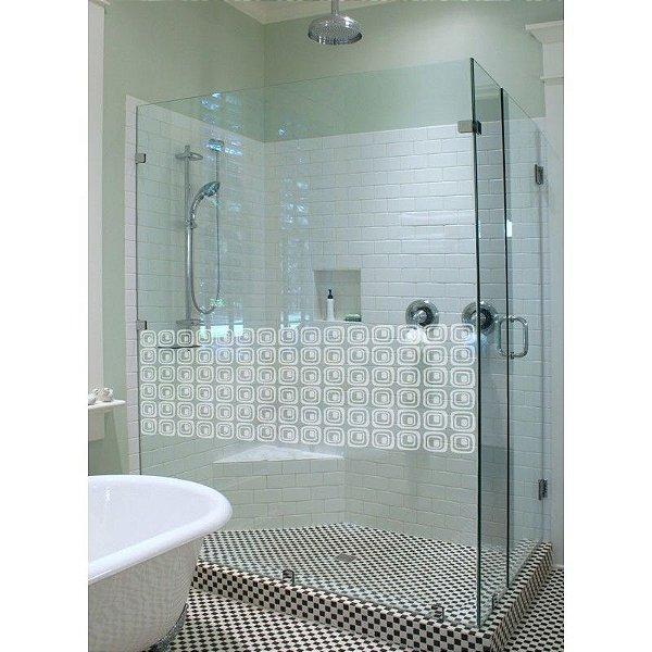 Adesivo jateado fosco para portas, divisórias, janelas e box do banheiro 40 cm  x 130 cm