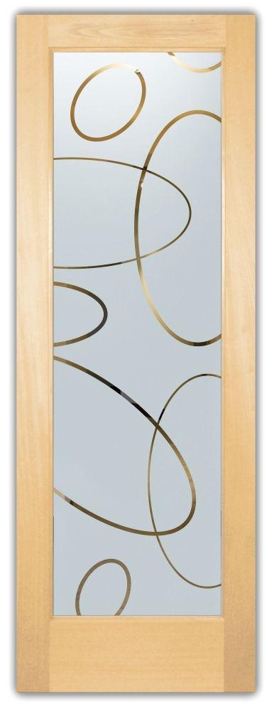 Adesivo jateado elipses 215x100 cm (para portas de 50 a 100 cm de largura)
