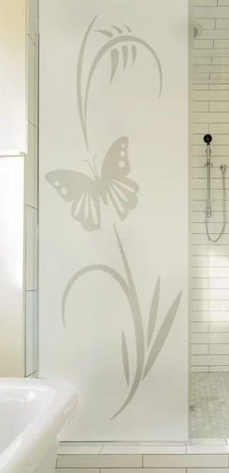 - Adesivo jateado Decorativo Borboleta 210x070 cm