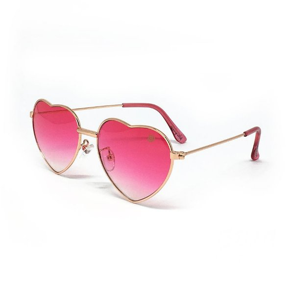 Óculos coração rosa