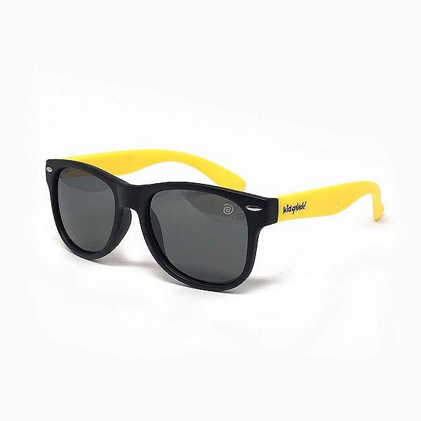 Óculos de Sol Flexível - Preto e Amarelo