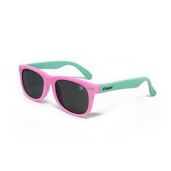 5265249317fd5 Óculos de Sol Flexível - Rosa e Azul - Excêntrica Kids