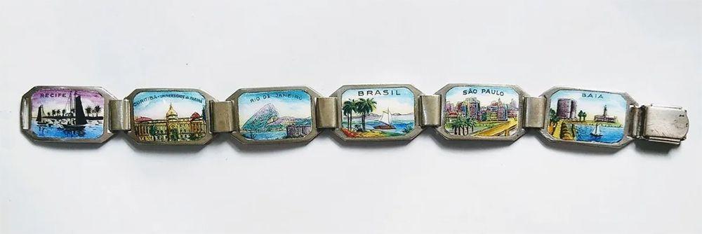 Pulseira Antiga com Imagens de Cidades Brasileiras