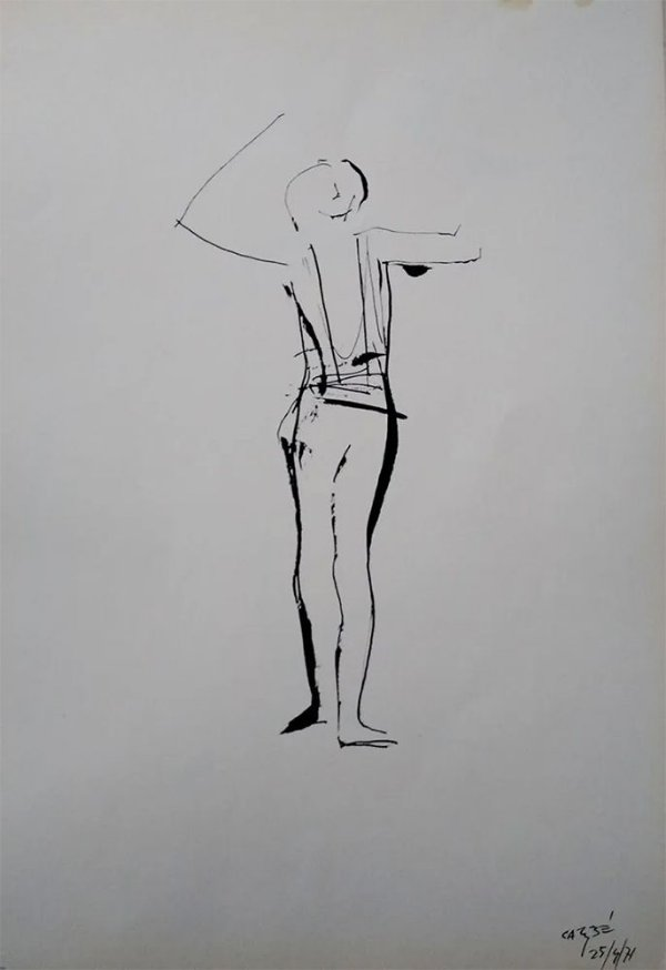 Carybé - Estampa, Figura de Bailarino, Balé, Nureyev
