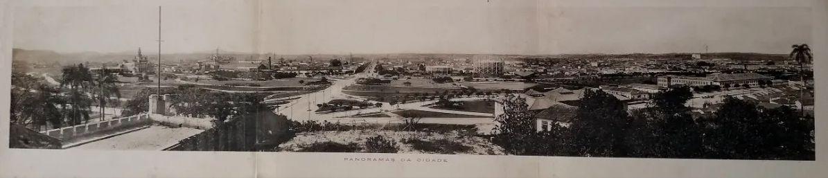 Fotografia Panorâmica, Estampa Tipográfica Original 1914, São Paulo, Várzea Do Carmo