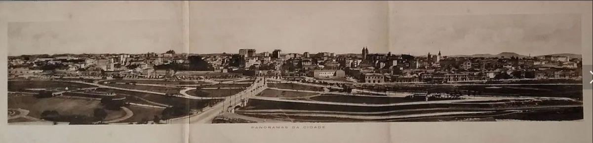 Foto Panorâmica, Estampa Tipográfica Original 1914, São Paulo, Parque Dom Pedro