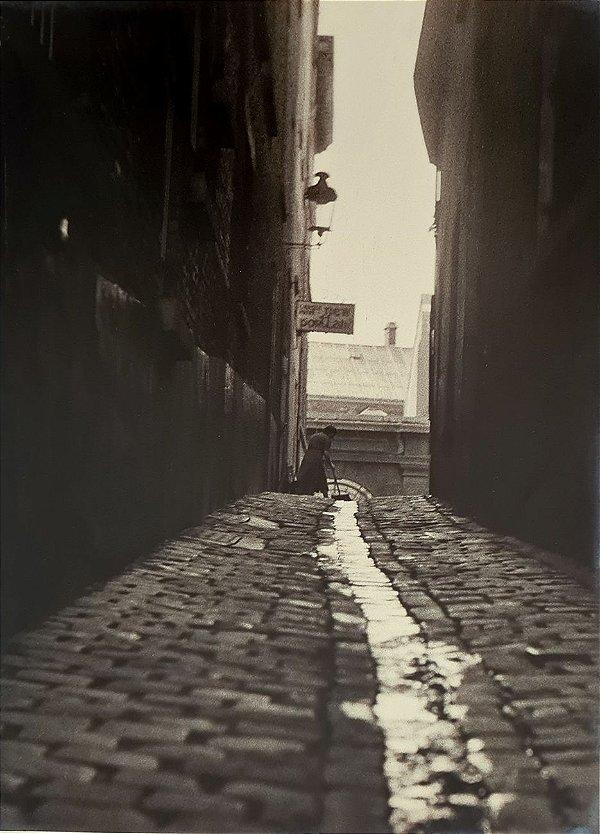 """JEAN LECOCQ - Fotógrafo Premiado no Brasil e Exterior - Fotografia Original Titulada """"Beco"""" - 40x30cm"""