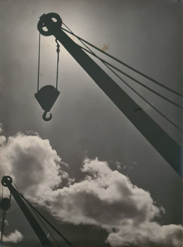 "JEAN LECOCQ - Fotógrafo Premiado - Fotografia Original Titulada ""Guindastes"" - 40x29cm"