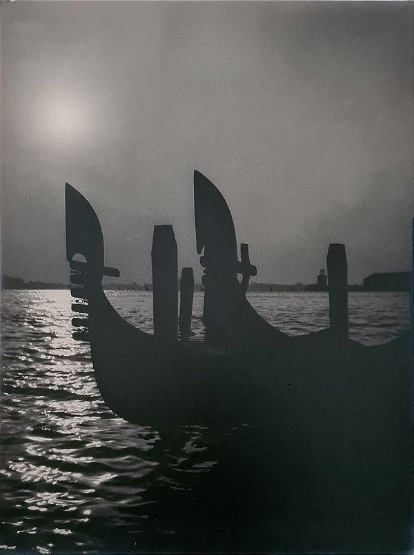 JEAN LECOCQ - Fotógrafo Premiado - Fotografia Original Gondola em Veneza- 39x30cm