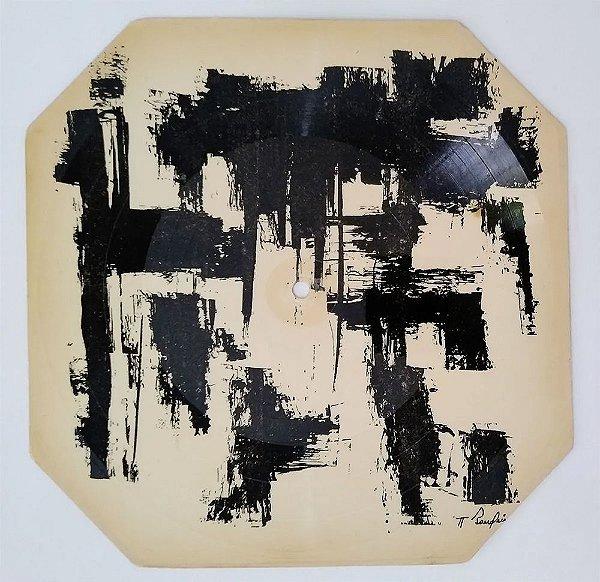 Antonio Bandeira - Arte Abstrata em Disco de Vinil sobre Cartão III, 1961, Assinado