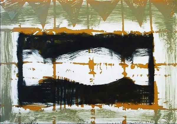 Roberto Tavares - Serigrafia, Arte Abstrata Assinada e Datada 2000