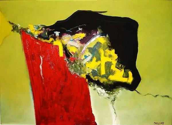 Massao - Quadro, Pintura Abstrata, Acrílico sobre Eucatex, Assinado