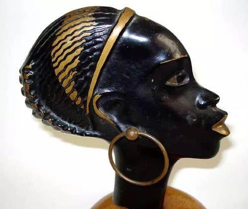 DAYAGI - Escultura Bronze Estilo Hagenauer, Mulher Negra, Judaica,  Assinada por Dayagi, Artista Israelense