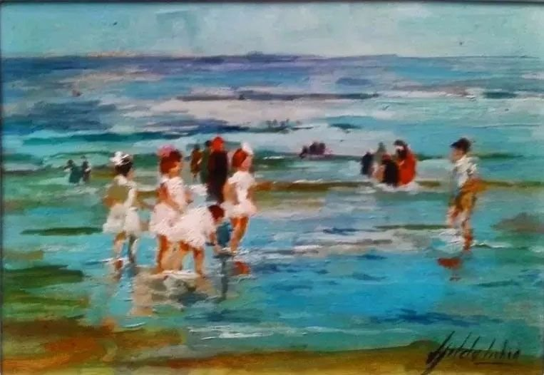 Gilda Lisboa - Quadro, Pintura Óleo Sobre Eucatex, Assinado