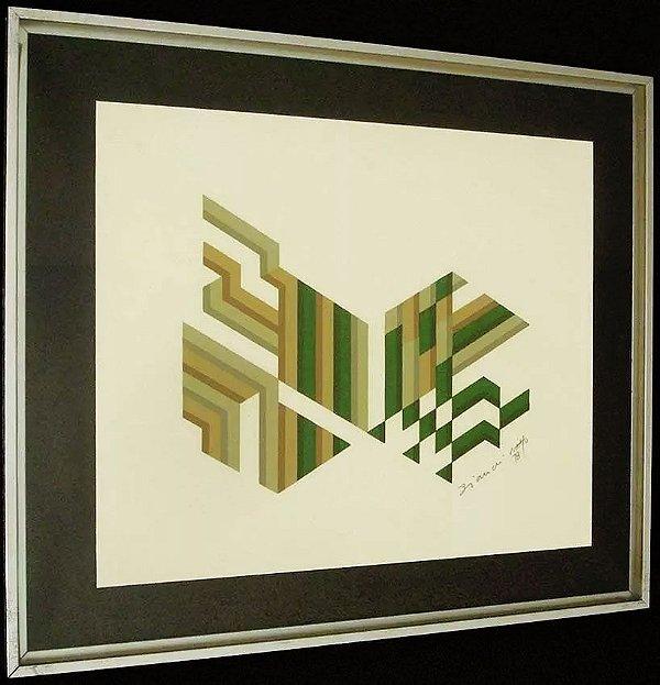Bianchi Netto - Quadro, Pintura Sobre Papel Texturizado Assinada e datada 1978