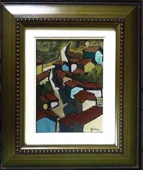 Marcio Schiaz - Quadro, Pintura Óleo Sobre Tela Assinado, datado 2008  Titulado Ouro Preto