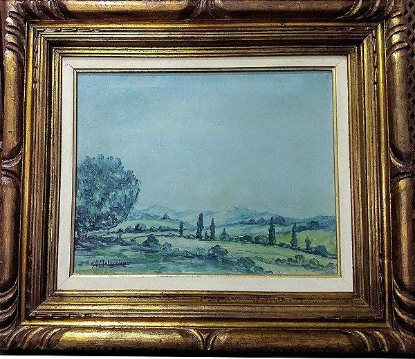 A. Malagolini - Quadro, Pintura Óleo Sobre Tela, Paisagem, Assinado