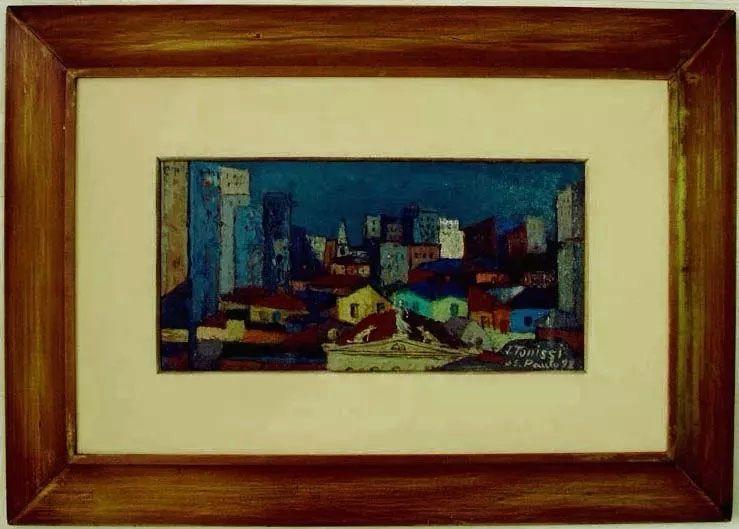 João Tonissi - Quadro, Pintura Óleo Sobre Eucatex, São Paulo, Assinado