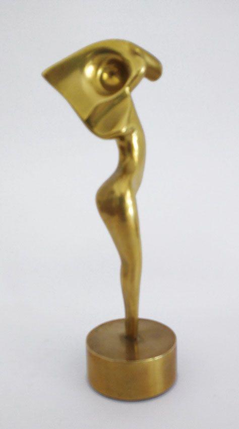 Roberto Vivas, Escultura em Bronze da Série Amazonas, Assinada