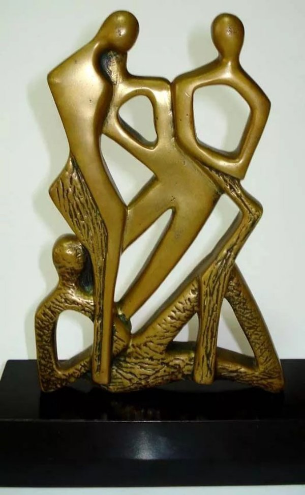 Ivanir Cozeniosque - Escultura Modernista em Bronze, Assinada