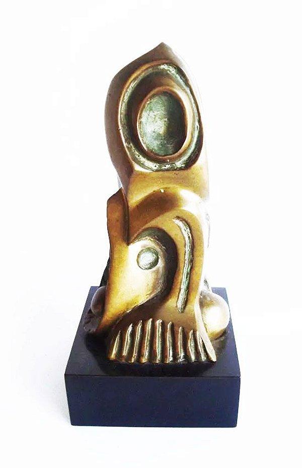 D.  M. Ortega - Escultura Em Bronze, Modernismo,  Assinada