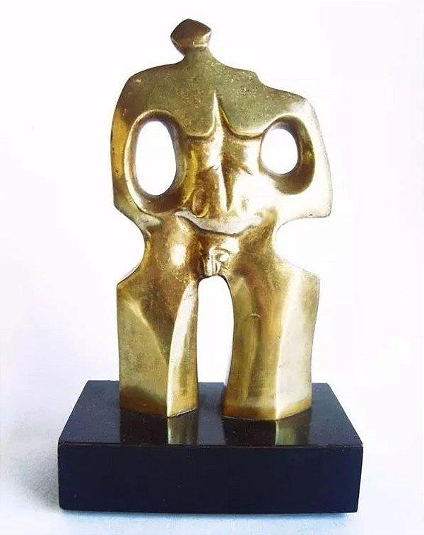 Calabrone, Domenico  - Escultura Em Bronze Assinada, Masculino e Feminino