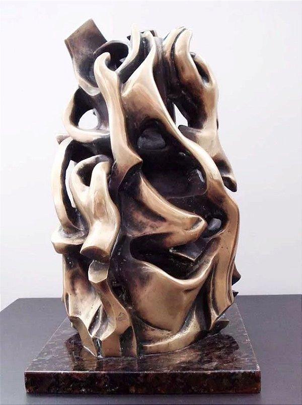 """Anna Laminarca - Importante Escultura em Bronze """"Mãos da Artista"""" -  46,5cm"""