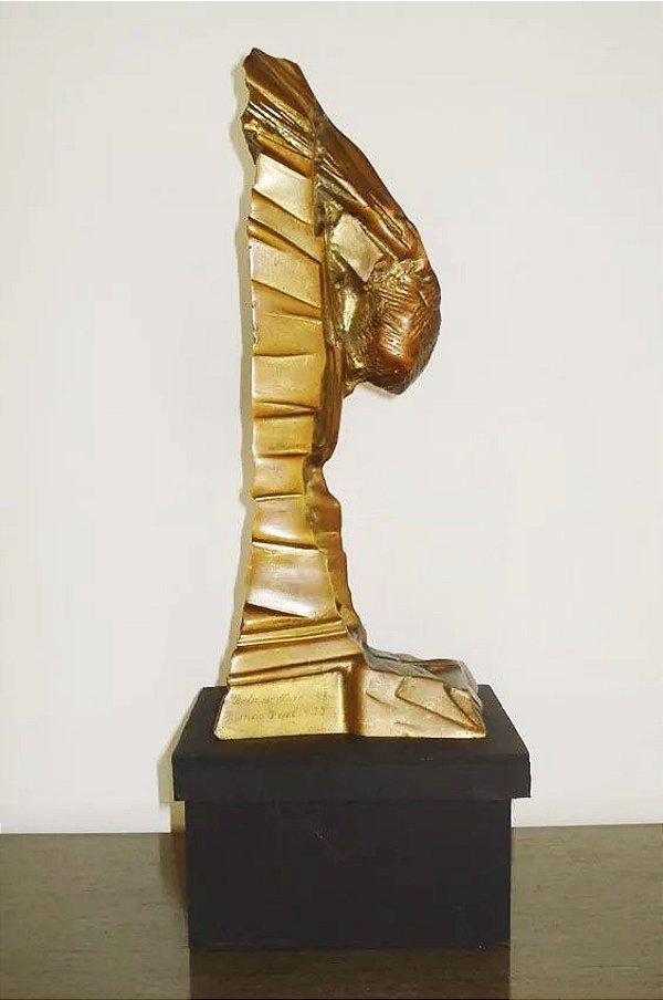 Maria Bonomi - Escultura em Bronze, Bola Ouro, Assinada