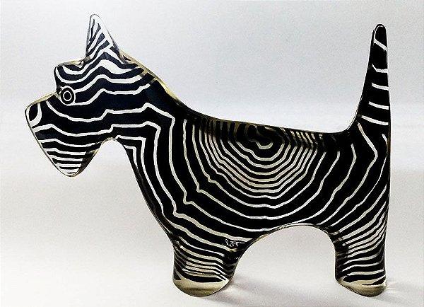 Palatnik - Escultura Cinética em Acrílico, Figura de Cachorro Schnauzer