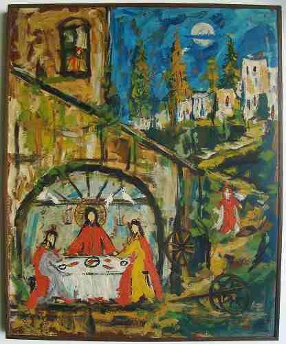 Cid Serra Negra - Quadro Pintura Óleo sobre Eucatex, Assinado, Com Certificado