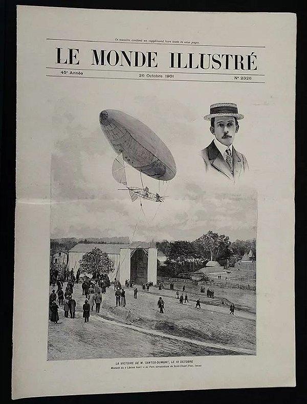 Santos Dumont - Jornal Le Monde Illustré - Original De 1901