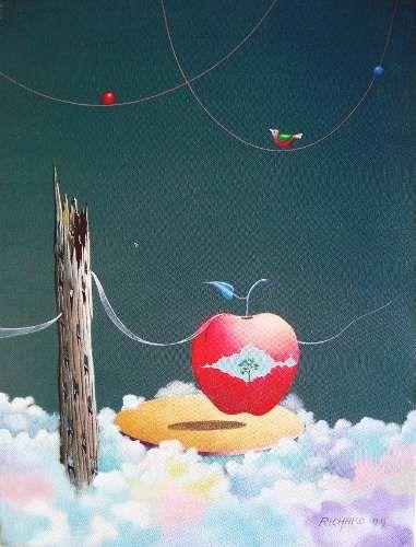 Richard Hideaki - Pintura Acrílica Sobre Tela Assinada, Datada 1999