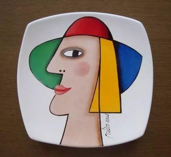 Gustavo Rosa - Prato em Porcelana Assinado