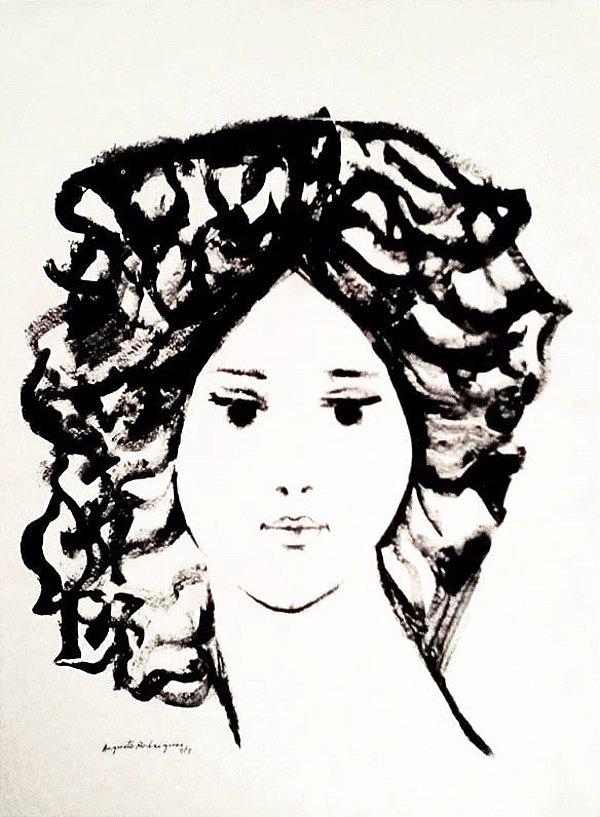 Augusto Rodrigues - Serigrafia Assinada de 1973