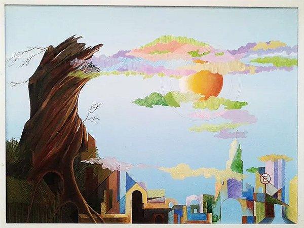 Astrid - Quadro, Pintura Óleo sobre Tela Assinada - Surrealismo