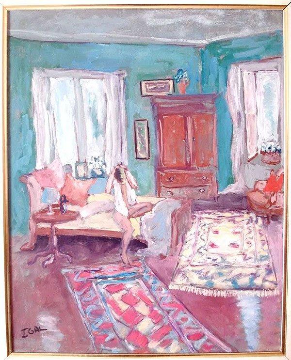 Igal - Pintura Óleo Sobre Tela Estilo Matisse Assinada